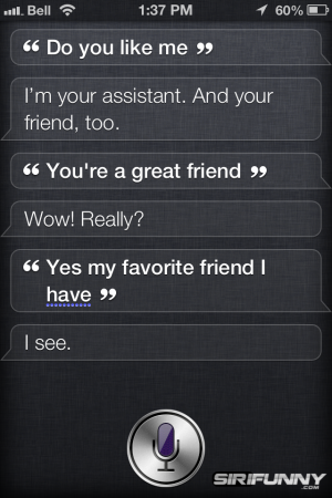 Do you like me Siri?