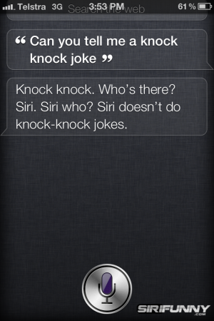 Knock knock Siri