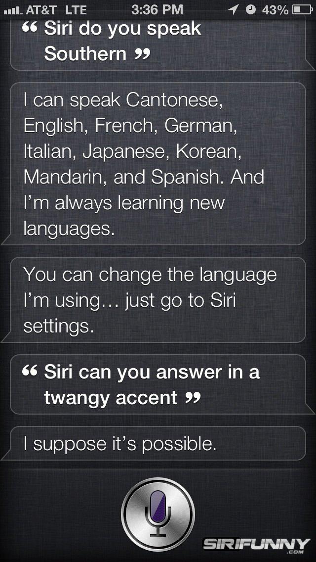 Siri languages