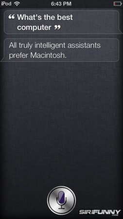 What's the best computer, Siri?