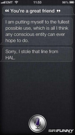 You're a great friend, Siri!