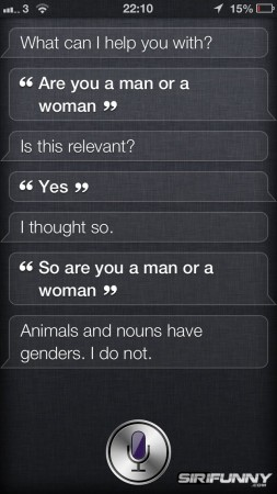 Siri, are you a man or woman?