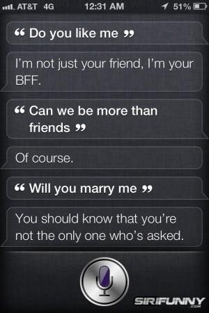 Siri's relationships