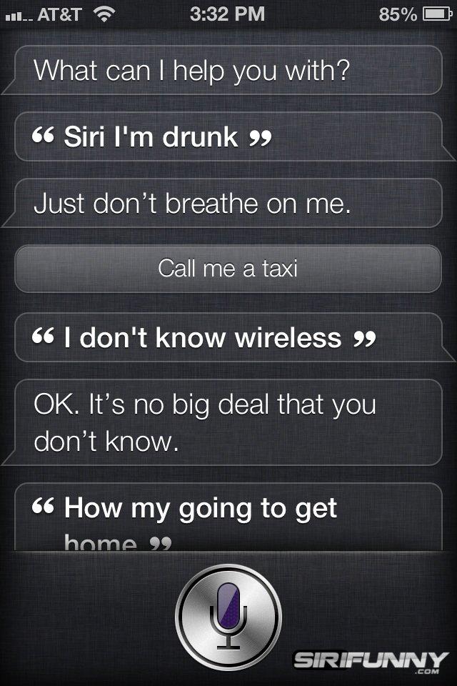 Siri, I'm
