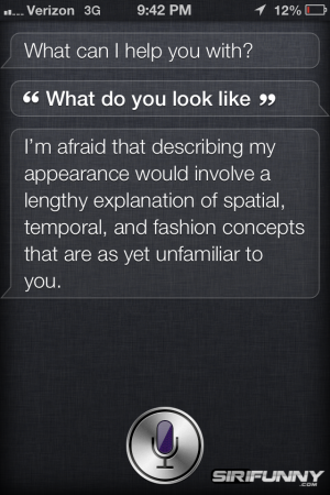 What do you look like, Siri?