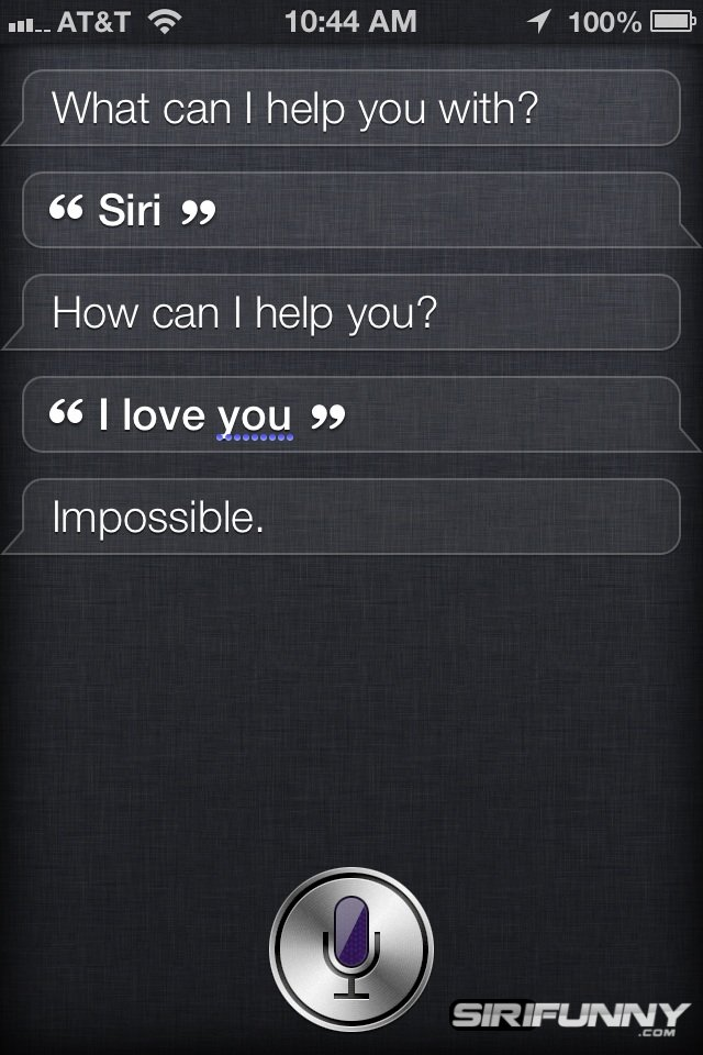 Siri, I love you