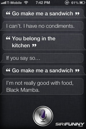 Siri, go make me a sandwich