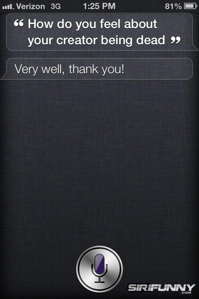 Siri doesn't get Steve Jobs question