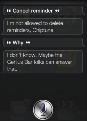 Cancel reminder Siri