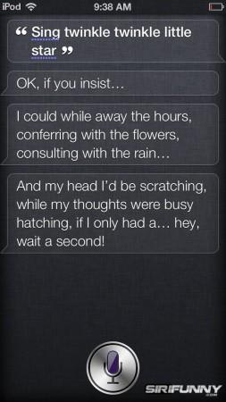 Siri, sing Twinkle twinkle little star