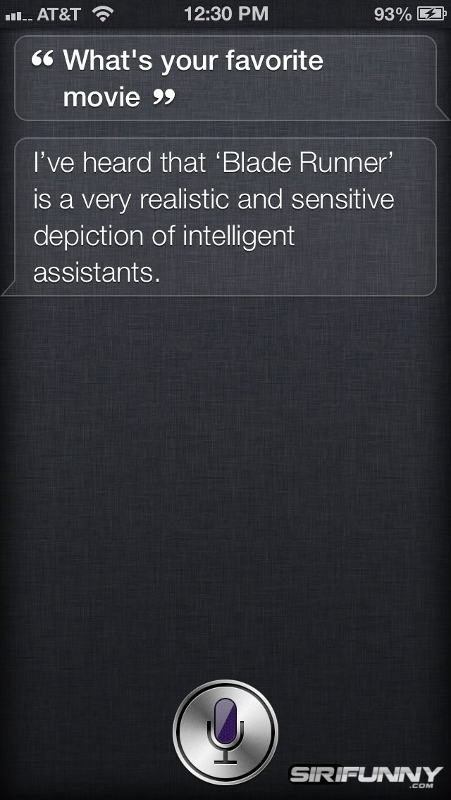 What's your favorite movie, Siri?