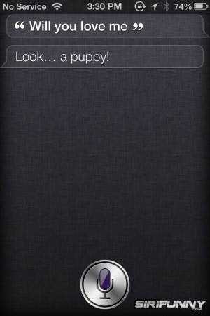 Siri, will you love me?
