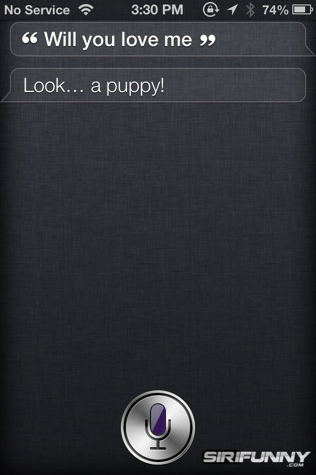 Siri, will you love me?