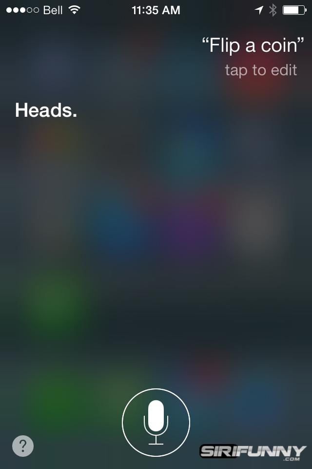 Flip a coin Siri