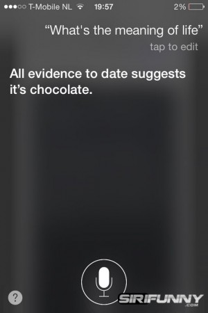 The meaning of life according to Siri