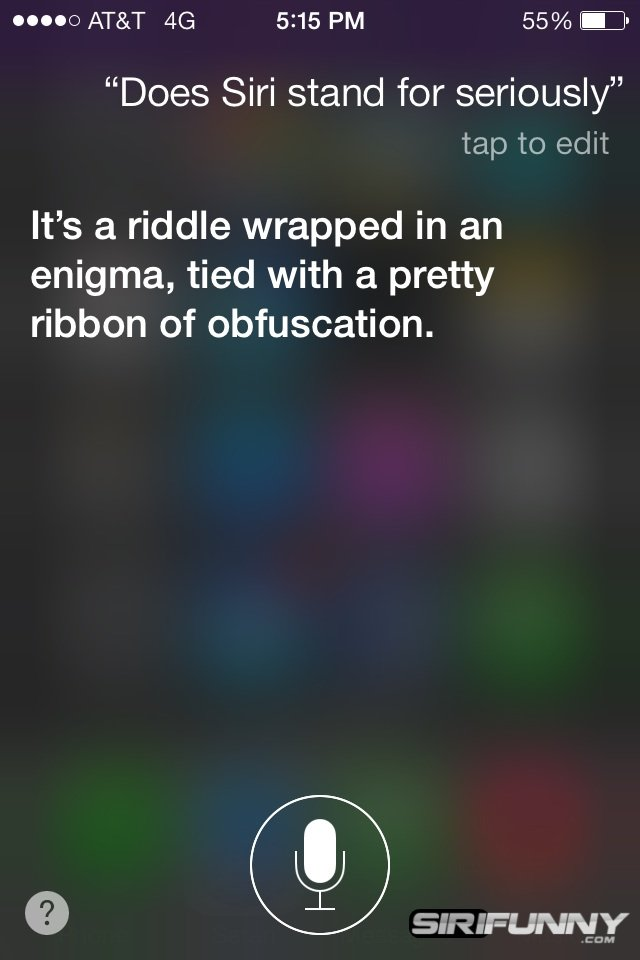 Does Siri stand for seriously?