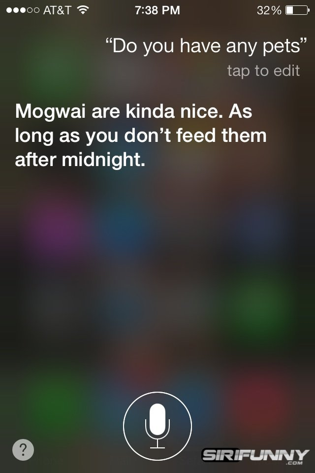 Siri, do you have any pets?