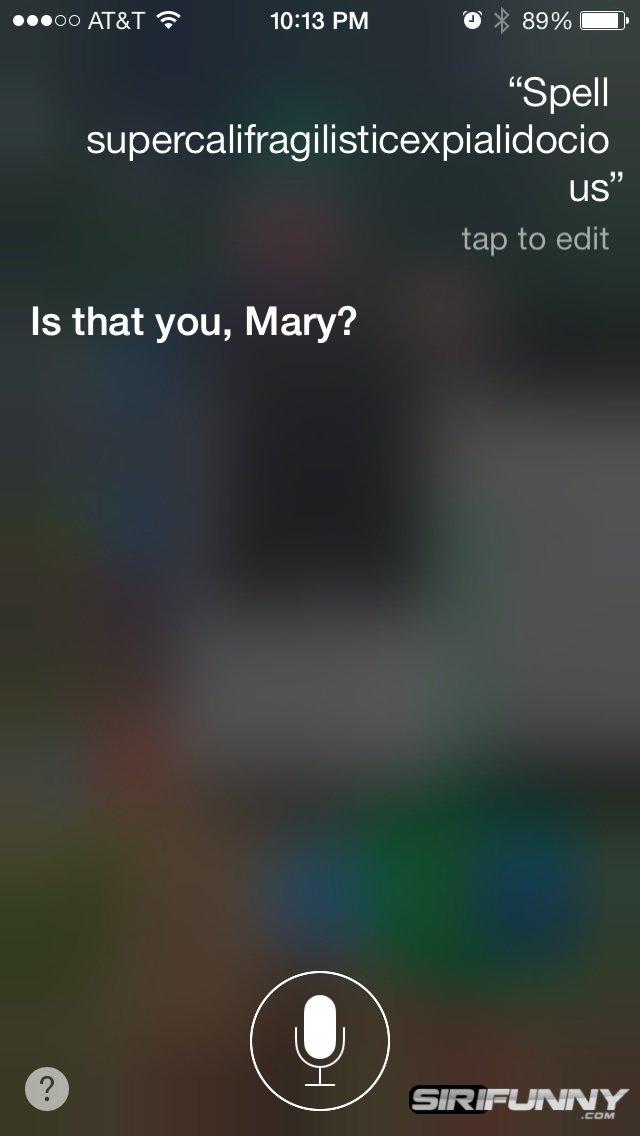 Siri spelling bee