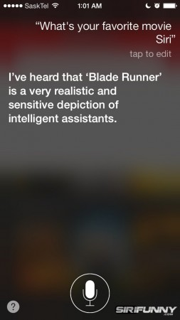 Siri, what's your favorite movie?