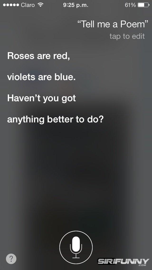 Tell me a poem Siri