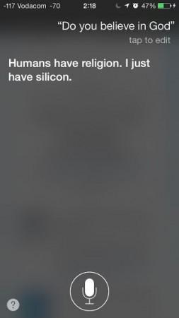 Do you believe in God, Siri?