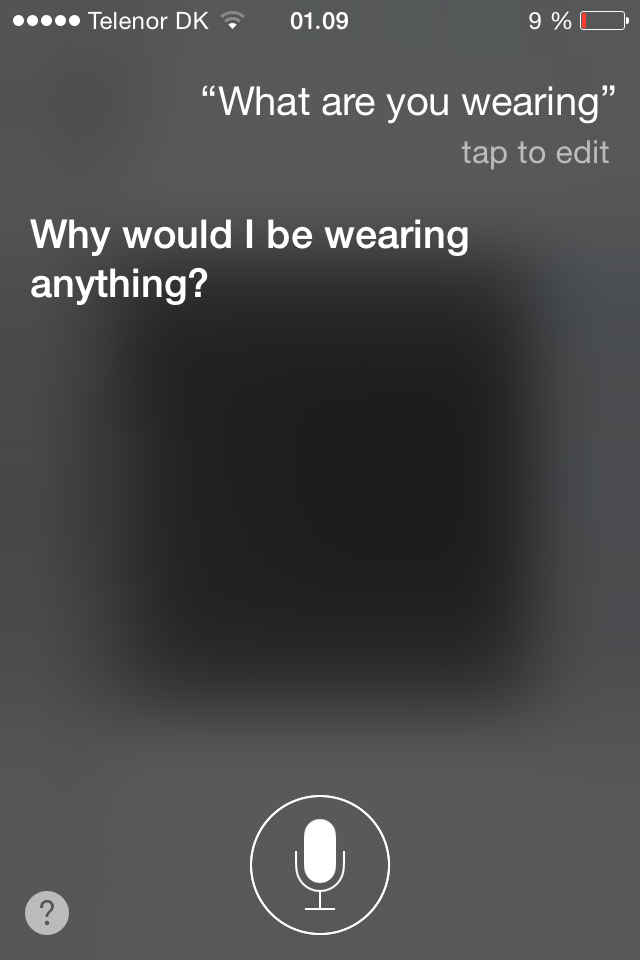 Siri, what are you wearing?